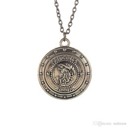 Wholesale Hip Hop Harry - Harry Gringotts Bank Coin Chain Necklace Wizarding Bank Hip Hop jewelry for men women gift 160464