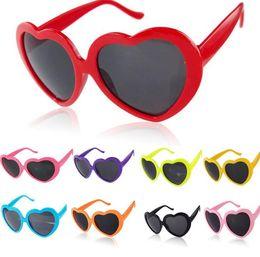 Wholesale Plastic Heart Sunglasses - Heart glasses sunglasses heart-shaped sunglasses e Cute Heart Shape Plastic Frame Outdoor Sunglasses 10 color KKA3285