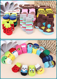 Wholesale Design Pet Dog Socks - 400pcs Lowest Price Cartoon Design Colorful Pet Socks Dog Socks dog Non-slip socks pet Anti-skid partic socks cat socks