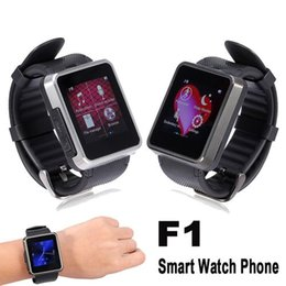 Wholesale Camera For F1 - Bluetooth Smart Watch Phone F1 Smartwatch Wristwatch with Camera for Samsung HTC Huawei LG Xiaomi Android Smartphones 2015 New
