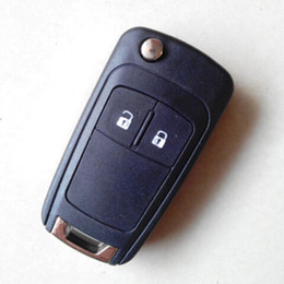 Wholesale Keyless Remote For Cars Shell - Flip remote key shell case 2 buttons for VAUXHALL OPEL Astra Insignia Car Alarm Housing Keyless Entry Fob Cover