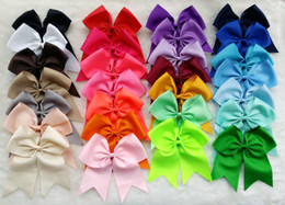 Wholesale Grosgrain Ribbon Hairbows - 25pcs 7-8 Inch Big Grosgrain Ribbon Hairbows Hair ring Hairbands,Baby Girls' Hair Accessories ,DIY Boutique Christmas gift Hair Bow V