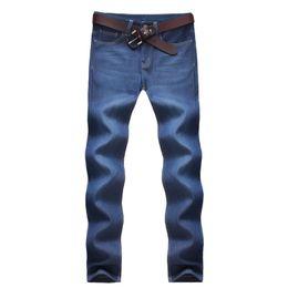 Wholesale Cheap Men Clothes Plus Sizes - Wholesale-Plus Size Jeans Men Fashion 2015 New Arrival All-match Mid Waist Denim Men Jeans Water-washed Blue Cheap China Clothing Hot