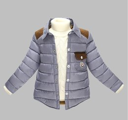 Wholesale Winter Jackets Down Plaid - Retail-Hot Sale Winter Children wadded jacket Cotton Jacket Boy Plaid Coat Warm Outerwear Children Coat
