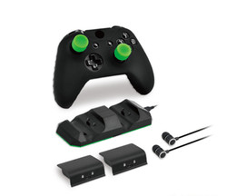 Wholesale One X S - Super Game kit Game set base 2 pcs battery one headset 1pcs silicone case 4 Silicon Thumbstick Cover for XBOX ONE X XBOX ONE S