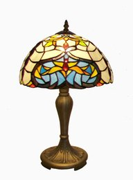 Wholesale Ems Shell - Wholesale-Tiffany Style Table Lamp With Patterns Of Insects And Turtle Shells Lampfair EMS Free TR12334