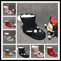 Wholesale Stretch Leopard Boots - Ankle Kids snow boots with velvet for children Authentic rubber Cute girls and boys snowboots unisex warm shoes winter youth EUR 25-32