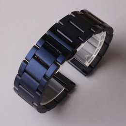 Wholesale Gear Watches - New 2017 arrival 20mm 22mm watchband strap bracelet dark blue matte stainless steel metal watch band belt for gear s2 s3 s4 men women hours
