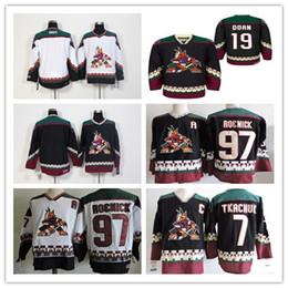 1990 Vintage Arizona Coyotes Jerseys Ice Hockey 7 Keith Tkachuk 19 Shane  Doan 97 Jeremy Roenick Black Red Alternate Classic Retro Jersey e26be71ac