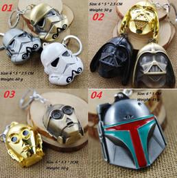 Wholesale Toy Warrior Knights - Star Wars black knight Dark Warrior Darth Vader Keychain key ring toys Zinc Alloy Keychains kids toys