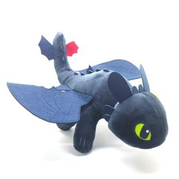 """Wholesale fury game - Hot New 12"""" 30CM Night Fury Toothless Plush Doll Anime Collectible Dolls Stuffed Party Gifts Soft Toys"""