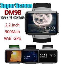 assistir telefones dual core Desconto DM98 Bluetooth Relógio Inteligente 2.2 polegada Android OS Telefone Pulseira Banda Núcleo Dual 1.2 GHz 512 MB RAM 4 GB ROM Wifi GPS