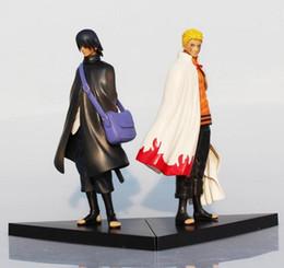 Wholesale Naruto Sasuke Figures - 2016 Naruto Figure Uzumaki Naruto And Uchiha Sasuke PVC Action Figures Toys Model Dolls 17cm Approx Great Gift
