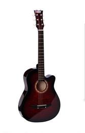 Wholesale Frete Grátis Tianyin Marca New Arrival Tiger Strip Guitarra Acústica de Alta Qualidade Estudante de Guitarra Acústica