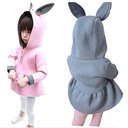 Wholesale Organic Baby Clothes Free Shipping - 2016 Spring girls coat baby girls rabbit ear jackets Autumn toddler girl clothes air cotton baby clothes free shipping