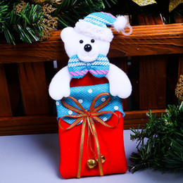 Wholesale Fashion Cookies - 2017 christmas gift bags small Candy Bags Snow Man Gift Bag Candy Cookie Biscuits Bag Foods Packaging Birthday Xmas Party Supply