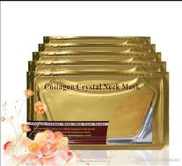 Prix le plus bas!! Masques de col en cristal de collagène de l'eau profonde de film d'or masques de soin de peau de masque de cou d'humidité ? partir de fabricateur