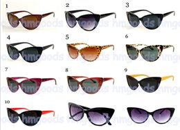 Wholesale Cute Frames - New Fashion Retro Travel Cute Lovely Leopard Vintage Gradient Special Cateye Variegated Sunglasses Glasses Woman Idol Goggles