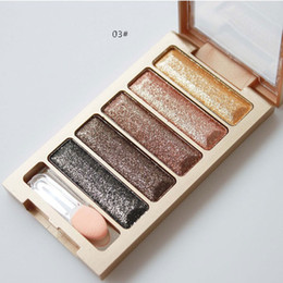 Wholesale bright palette - 5 Color Diamond flashing bright Eye Shadow Palette Eyeshadow high quality glitter Makeup Sets Beauty & Health Make Up free shipping DHL