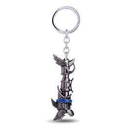 Wholesale Lol Key Chains - 12 pcs lot League of Legendes Jinx cannon LOL Keychain Metal Key Rings For Gift Key chain Jewelry for car YS11001