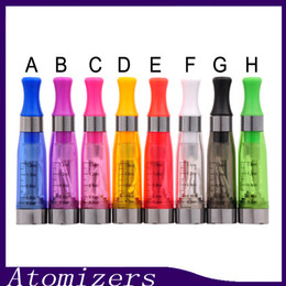 Wholesale Ego Clearomizer Colors - CE4 Atomizer eGo Clearomizer 1.6ml 2.4ohm vapor tank Electronic Cigarette for e-cig battery colors CE4+ CE5 free shipping (0203190) 1