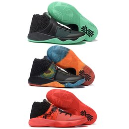 Wholesale Bright Cotton Fabric - (With Original Box)Free Shipping Cheap Kyrie 2 Green Glow BHM Inferno In Bright Crimson And Atom Orange Mens Basketball Shoes Sports Sneaker