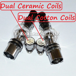 Wholesale Wholesale Ceramic Rods - Newest Coils Glass Globe Atomizer with Glass mouthpieces dual ceramic rod coil for glass globe vaporizer Glass Wax Atomizer Ecigs E Cigarett