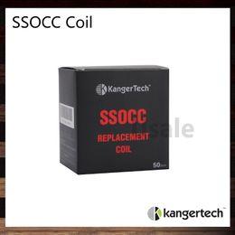 Original occ spule online-Kanger SSOCC Spulen 0,5 Ohm 1,2 Ohm 1,5 Ohm Ni200 0,15 Ohm ersetzen Spule Kopf für Kanger Nebox Kit Subvod Kit Edelstahl OCC 100% Original