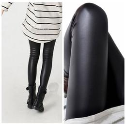 Wholesale Wholesale Plus Size Leggins - Black women leggings faux leather high quality slim leggings plus size High elasticity sexy pants leggins free size