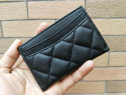 Wholesale Famous Coins - NEW 2017 classic C fashion Mini Wallet with holder famous logo black PU bag card holder Coin bag Luxury VIP gift