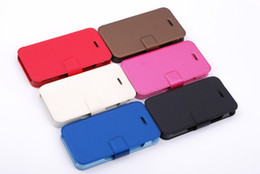 Wholesale Iphone5s Holder - Leather Flip Case cover with stand holder for iphone 6 iphone5S Galaxy S3 S4 Textile Leather flip case
