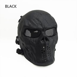 Wholesale Green Items - New Item Low Carbon Steel Mesh Mask for Tactical Game with Good Quality black green tan CL9-0058