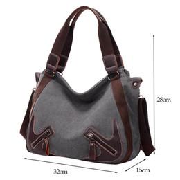 Wholesale Dark Brown Hobo Handbags - Hot Canvas Women Shoulder Bags Vintage Femal Handbag Tote Mori Woman Crossbody Bag High Quality Daily Uses Hobos Bag
