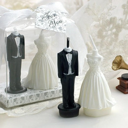 Wholesale Bride Groom Candles - 2015 New the Bride and Groom Candle Wedding table centerpiece party Decorations Supplies Wedding Party Favors Novelty Gifts