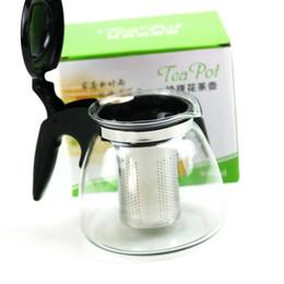 2019 filtro de vidro teapot 900 ml De Vidro Kungfu Tea Set Bule De Chaleira De Água Com Infusor de Aço Inoxidável Malha De Filtração Infuser ZA5373 desconto filtro de vidro teapot