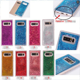 Wholesale Flow Case - For Samsung Galaxy Note8 Phone Cases Glitter Heart Stars Dynamic Liquid Quicksand Soft TPU Back Cover Cute Shockproof Flow cases