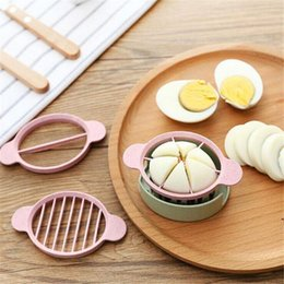 Wholesale Sale Eggs - Happy Sale Wheat Straw Egg Cutter Split Device Food Divider Slicer Egg Slicer Egg Knife For Free Shipping