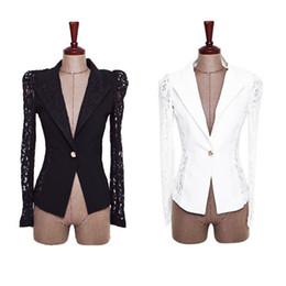Wholesale Long Purple Blazer - Elegant Women Slim Suit Blazer Coat Lace Crochet Jacket Cardigan Blouse Outwear Office lady coats