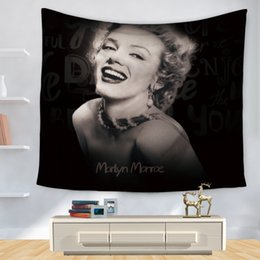 Wholesale Marilyn Monroe Posters - Polyester Tapestry Marilyn Monroe Poster Home Decoration Wall Blankets Hanging Bedspread Sheets Tapiz Pared Hippie Tapestries