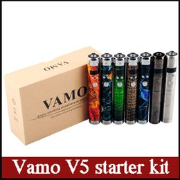 Wholesale Ce4 Lcd Box - Vamo V5 starter ego kit LCD Display Variable Voltage battery CE4 Atomizer Clearomizer Electronic Cigarettes in Gift box pack Ecig 0211024