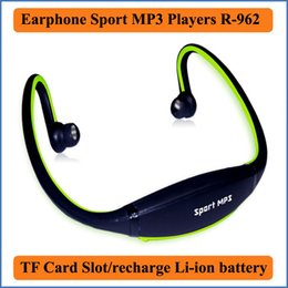 Wholesale Music R - 2016 Fashion Earphone outdoor Sports MP3 Music Players Headset Headphone support TF Card built-in Li-ion battery MP3 player R-862
