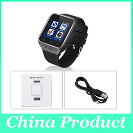 Wholesale Andriod Phones 3g - S8 Phone watch Smartwatch Andriod watch 1.54inches Android 3G WCDMA Anriod 4.4 smart system watch phone 002996