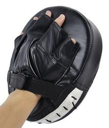 Mitaines focus tampons de frappe en Ligne-Mode Boxe Mitt Entraînement Cible Focus Punch Pads Gants MMA Combat De Karaté Thai Coup De Pied PU Mousse Matériel