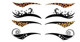 Wholesale Eye Liner Stickers - RAVE PUNK Temporary Eyeliner Eye Liner Sticker Transfer Makeup Instant Tattoo Stickers