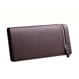 Wholesale Receipt Organizer - S5Q Luxury Men PU Leather Card Cash Receipt Holder Organizer Bifold Wallet Purse AAAEOZ