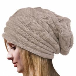 Wholesale Crochet Trapper Hat - Wholesale-Good sale Women Winter Crochet Hat Wool Knit Beanie Warm Caps BG