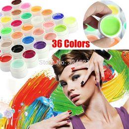 Wholesale Nail Soak Off Set - Professional 36colors set Nail Gel Pure Colors Decor UV Gel Nail Art Tips Shiny Cover Extension Manicure Civi Nail Gel Polish