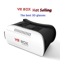 "Wholesale Android Glasses - VR BOX Head Mount Plastic mate Virtual Reality VR Glasses Rift Google Cardboard 3D Movie for 4.7 to 6"" Smart Phone"