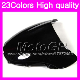 Wholesale 99 honda cbr f4 - 23Colors Windscreen For HONDA CBR600F4 99 00 99-00 CBR600 F4 CBR 600 F4 CBR 600F4 1999 2000 Chrome Black GPear Smoke Windshield