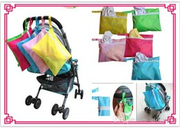 Wholesale Doomagic Clothing - Doomagic Baby Diaper Nappy Bag Stroller Accessories Waterproof Baby out dirty clothes storage bag stroller organizer bags Hung Bag 20p530